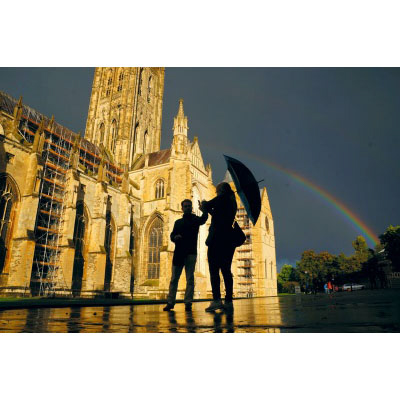 Canterbury Cathedral Rainbow