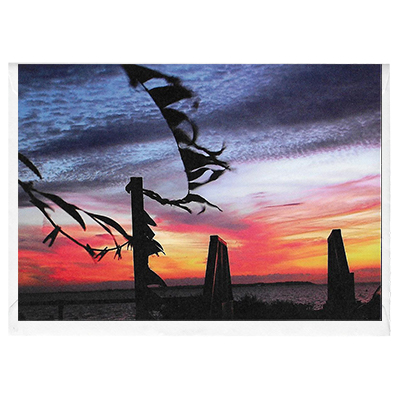 Bruce's Sunset Bunting - card