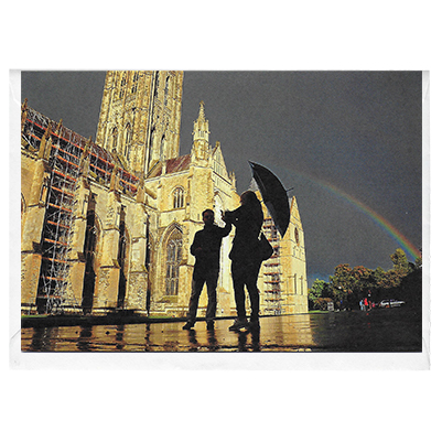 Canterbury Cathedral Rainbow - card
