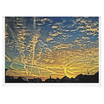 Leaving on a Jet Plane Sunrise - card